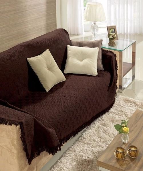 Manta sofa Budm Manta Para sofà Dohler 2 Pà S 1 Grande E 1 Pequena Marrom R 159