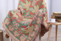Manta sofa O2d5 Manta sofa Throw Blanket 100 Cotton Tassel Jacquard Blanket sofa Tv