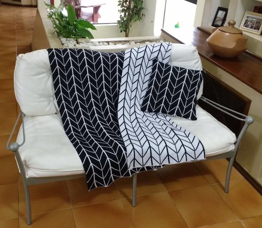 Manta sofa Zwdg Manta Para sofa Em Tricot Losangulo No Elo7 Mpk Tricot A661f4
