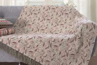 Mantas sofa Ffdn Manta Para sofà Dupla Face Jacquard Floral 135x180cm Vermelho Branco