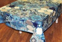 Mantel Plastificado Gdd0 Mantel Algodà N Plastificado Modelo Azulejos Azul