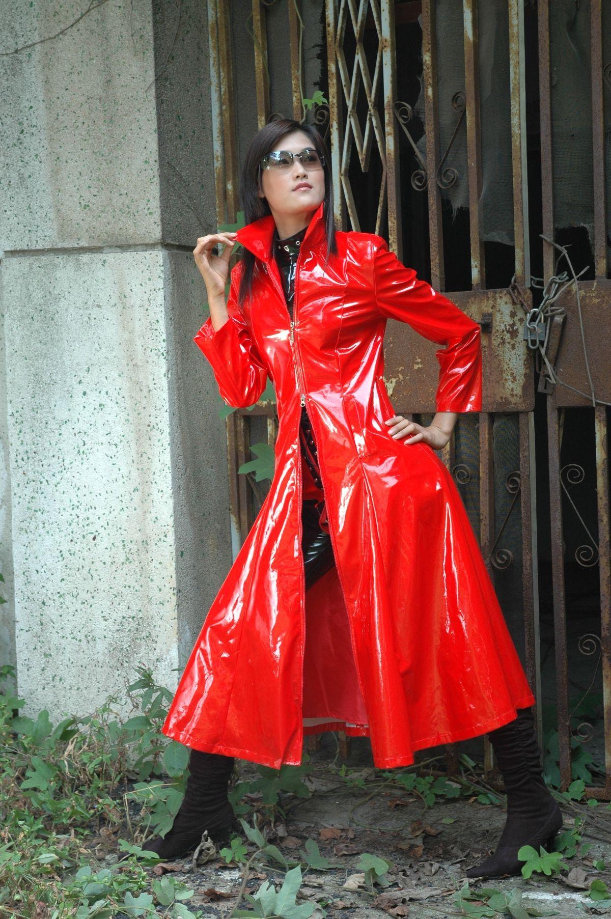 Mantel Pvc Drdp Genialer Lack Mantel Lackmà Ntel Raincoat Pvc Raincoat Und Red