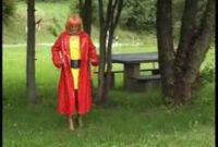 Mantel Pvc E6d5 Funplastic Mein Roter Pvc Mantel Youtube