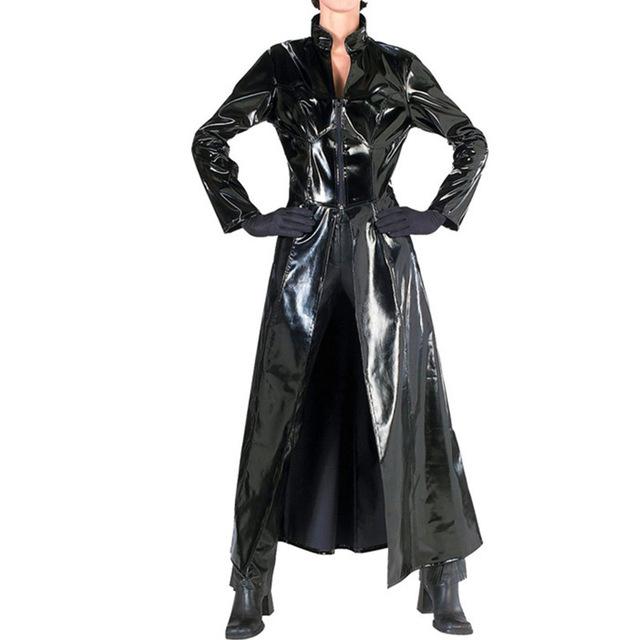Mantel Pvc Gdd0 MÃ Nnlichen Graben Lange Design Leder Mantel Pvc Lange Trenchcoat