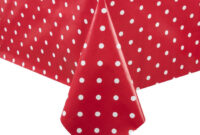 Mantel Pvc Q5df Pvc Polka Dot Tablecloth Red 54 X 90in Gg807 Online at Nisbets