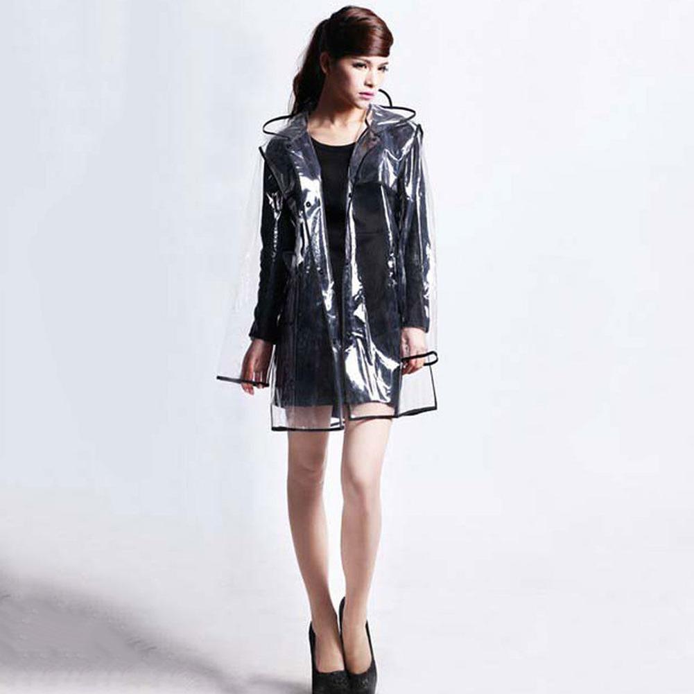 Mantel Pvc S1du Klare Vinyl Durchsichtig Regenmantel Frauen Transparent Regen Mantel