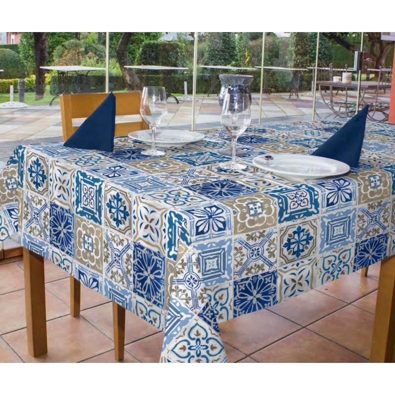 Mantel Pvc Tldn Mantel P V C Estampado Tiles Azul Ferreterà as Beltrà N