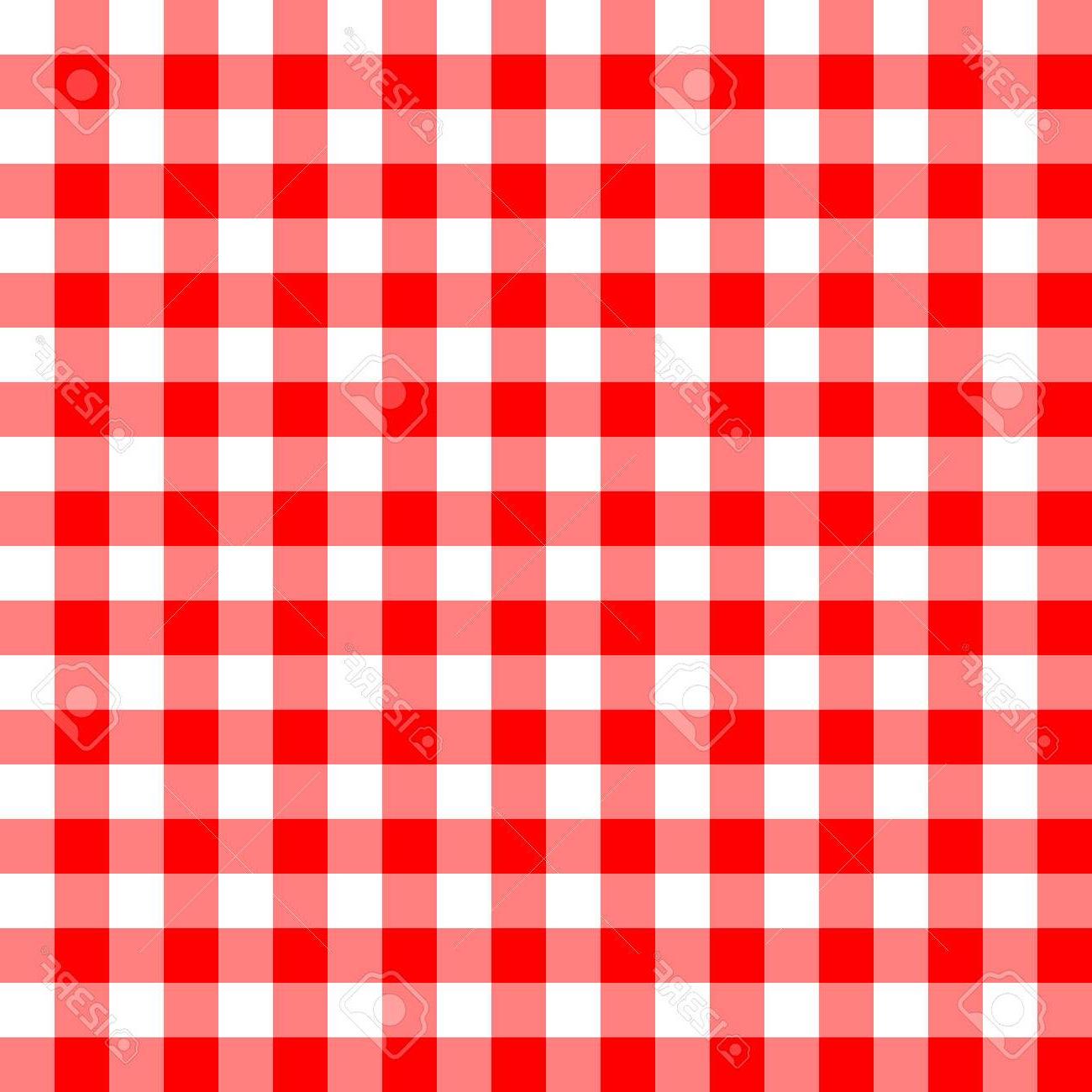 Mantel Rojo S5d8 Patrà N De Mantel Rojo Y Blanco Transparente Ilustracià N Vectorial