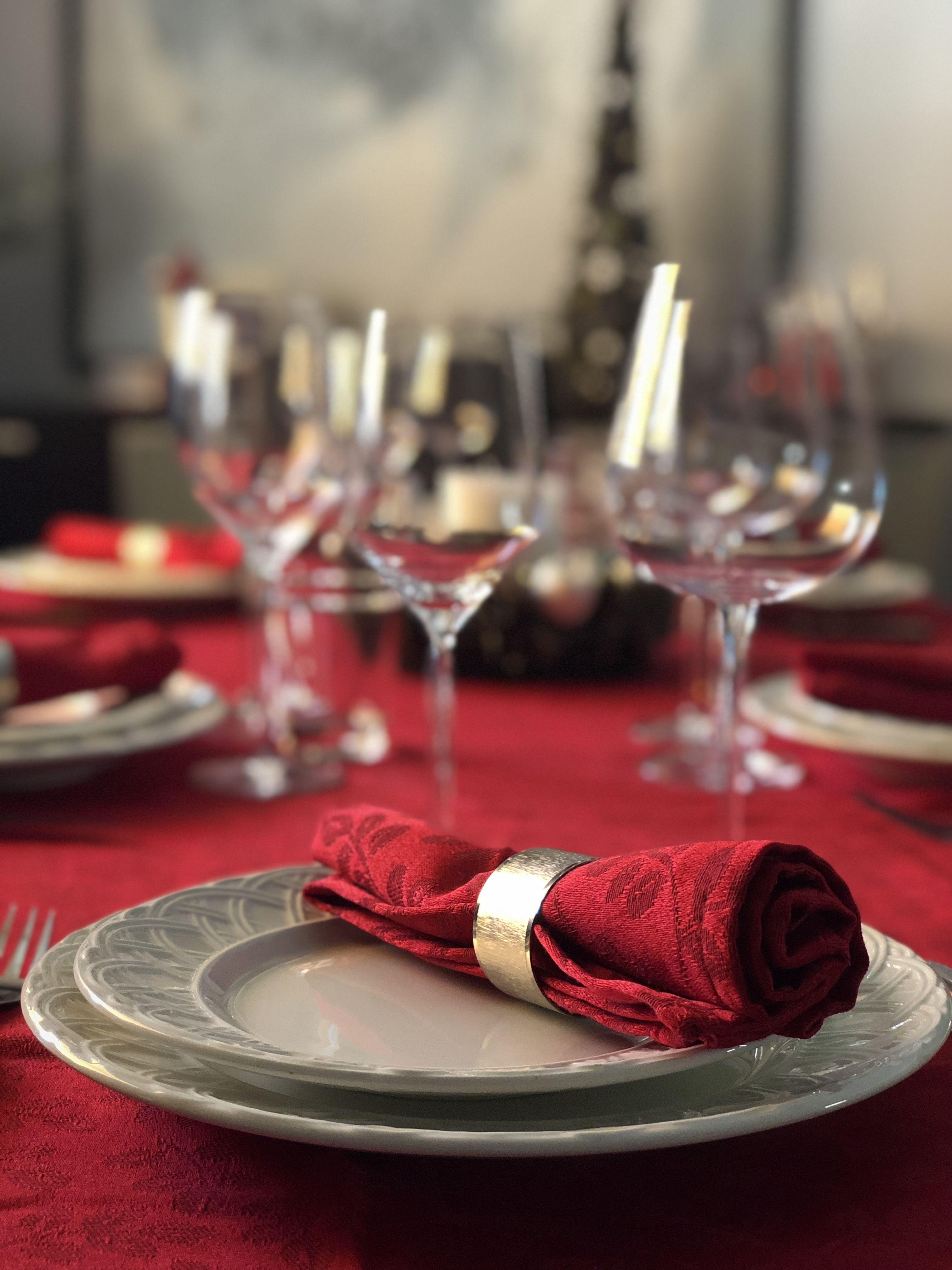 Manteles De Navidad El Corte Ingles Zwdg Mesa De Navidad Detalles Rojos Mantel Y Servilletas El Corte