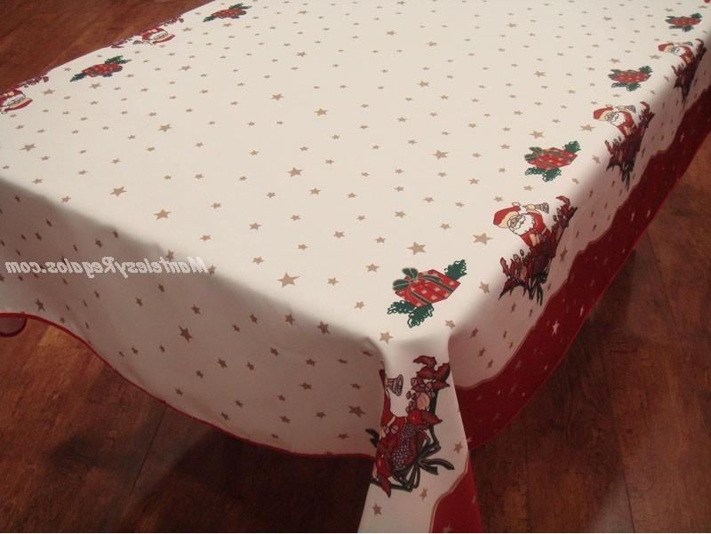 Manteles De Navidad Fmdf Mantel Antimanchas De Polià Ster Modelo Navidad P02 Blanco