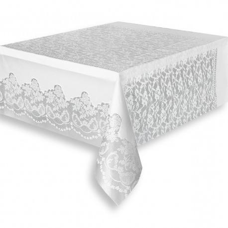 Manteles De Plastico 3ldq Mantel De Plà Stico Con Bordado 137 X 268 Cm