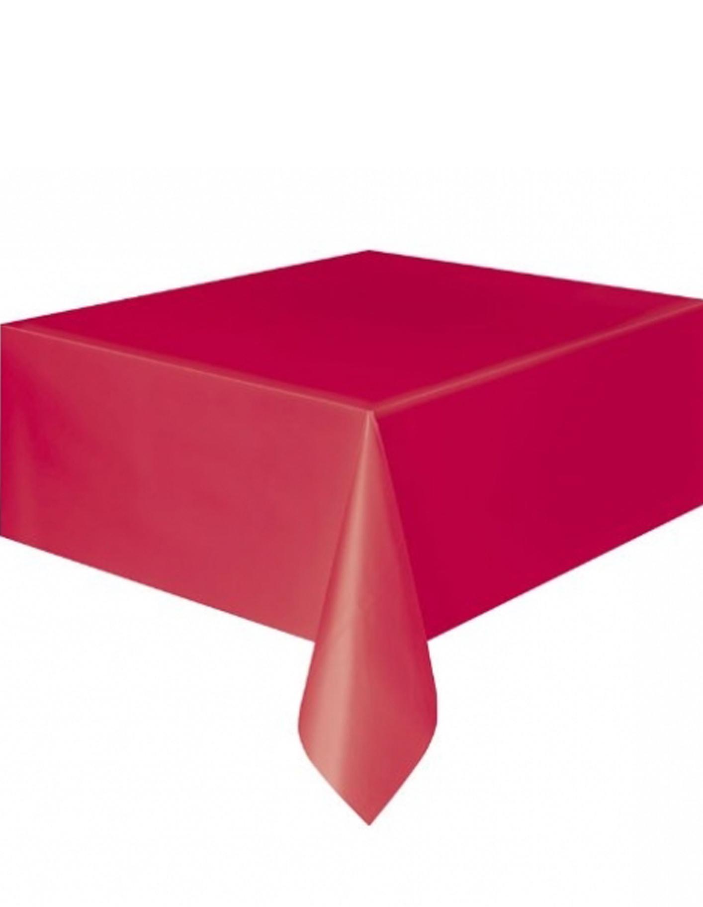 Manteles De Plastico 9ddf Mantel Plà Stico Rojo 137x274cm