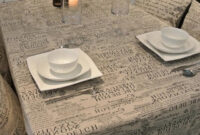 Manteles De Plastico Budm European Style Letter Linen Tablecloths High Quality Table Cloth