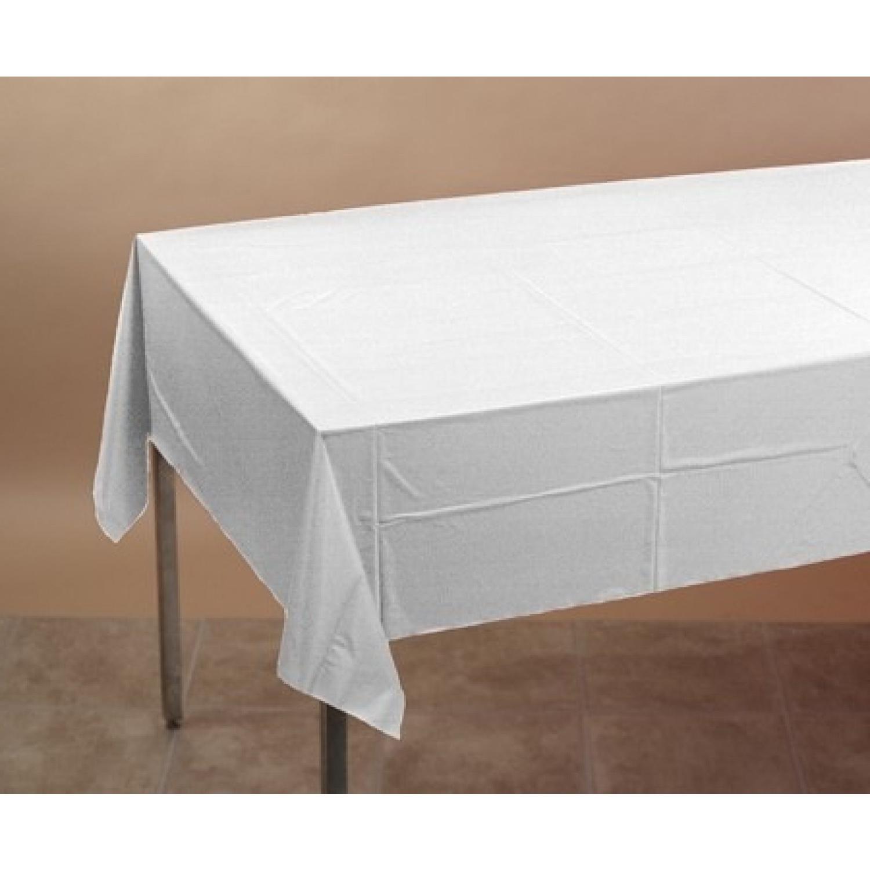 Manteles De Plastico Ffdn Mantel Rectangular Blanco Plastico