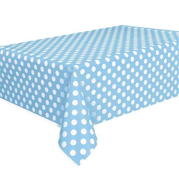 Manteles De Plastico S5d8 Mantel De Lunares En Color Azul Celeste Para Vestir La Mesa