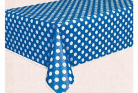 Manteles De Plastico Zwdg Mantel De Plà Stico Azul Con Lunares Blancos Para Fiestas