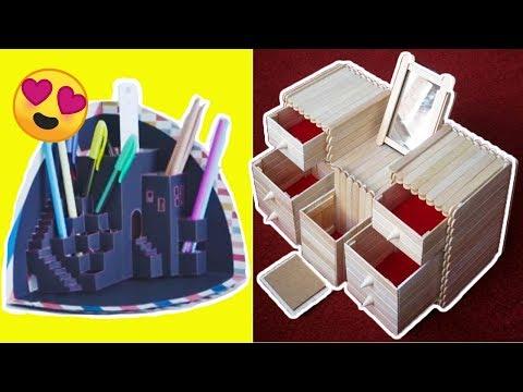 Material De Escritorio Budm organizador De Escritorio Con Material Reciclado Y Carton Manualidades Faciles