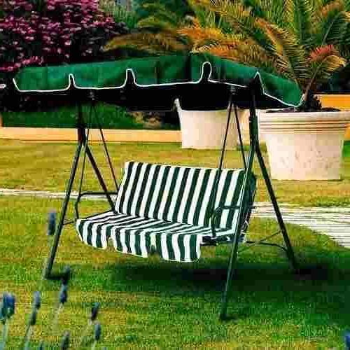 Mecedora Jardin E6d5 Hamaca Mecedora Jardin 3 Cuerpo Verde Importada Almohadon 8 545