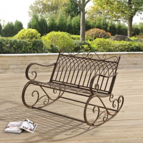Mecedora Jardin Mndw Silla Mecedora Doble Estilo Vintage Para Terraza Jardà N Patio