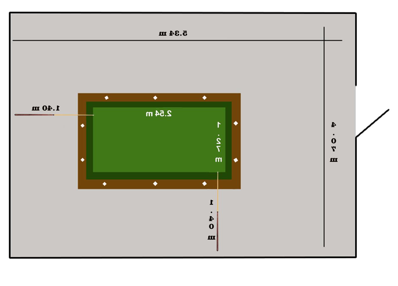 Medidas De Una Mesa De Billar 3ldq Medidas Billar Dimensiones De Espacios Interiores Mesa