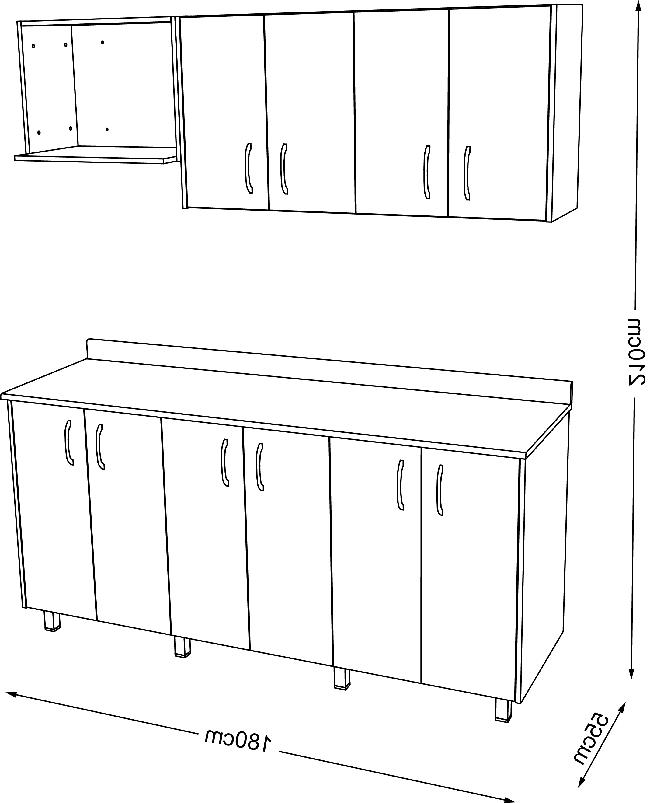 Medidas Estandar De Muebles De Cocina J7do Casalistacocina Modular 1 80m