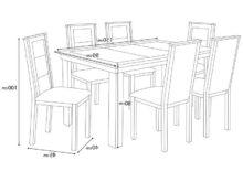Medidas Mesa Comedor 6 Personas Q0d4 Medidas Mesa Edor De Oakland Muebles Industria Barcelona