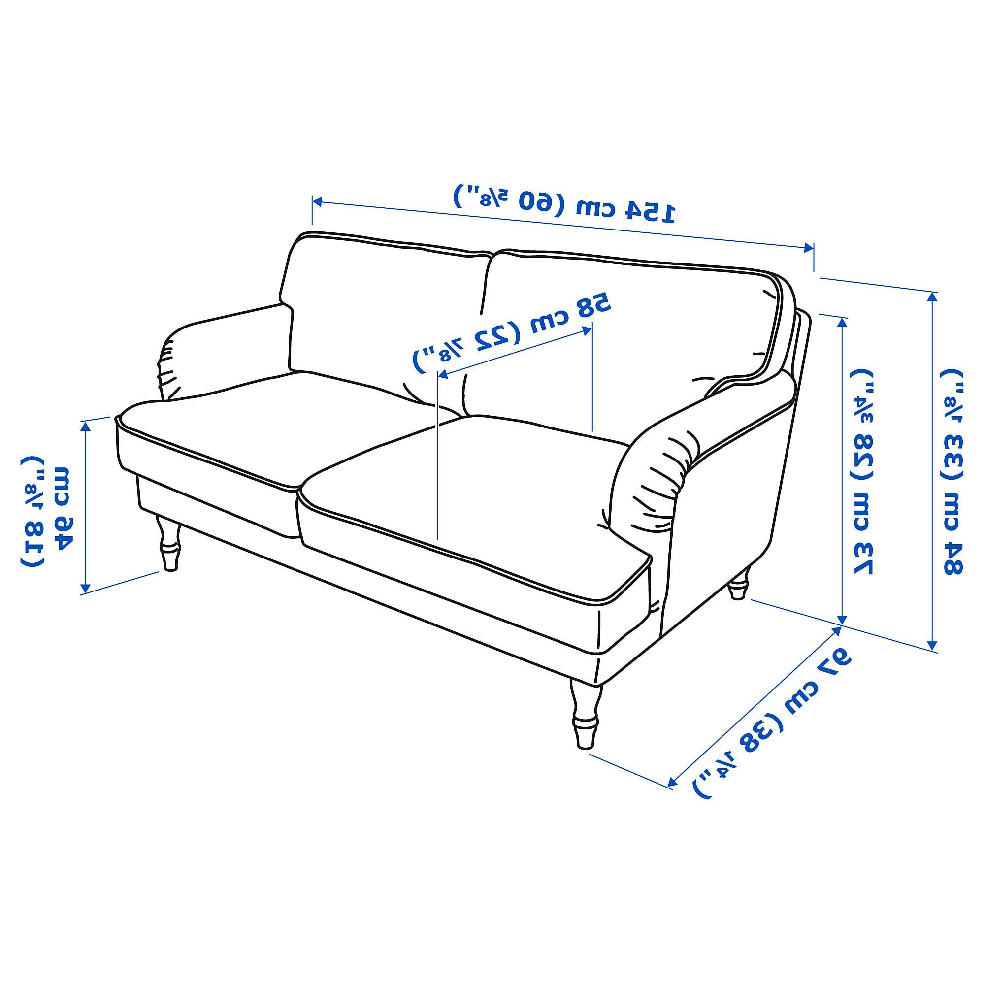 Medidas sofa 2 Plazas Txdf Stocksund sofà 2 Plazas Ljungen Azul Negro Madera Ikea