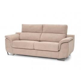 Merkamueble sofas Rldj sofà Abatible De Gran Confort Tapizado En Tela Lavable Beige