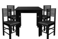Mesa 80×80 Fmdf Conjunto Laguna De Madeira Mesa 80×80 4 Cadeiras Flex Mesas E