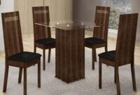 Mesa 80×80 H9d9 Conjunto Mesa De Jantar Havana 80×80 4 Cadeiras Em Mdf E Mdp