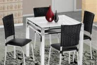 Mesa 80×80 Tqd3 Conjunto Mesa Brigatto Yane 80×80 E 4 Cadeiras Stilo Conjuntos De
