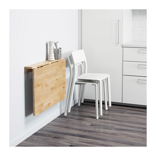 Mesa Abatible D0dg norbo Mesa Abatible De Pared Abedul 79 X 59 Cm Ikea
