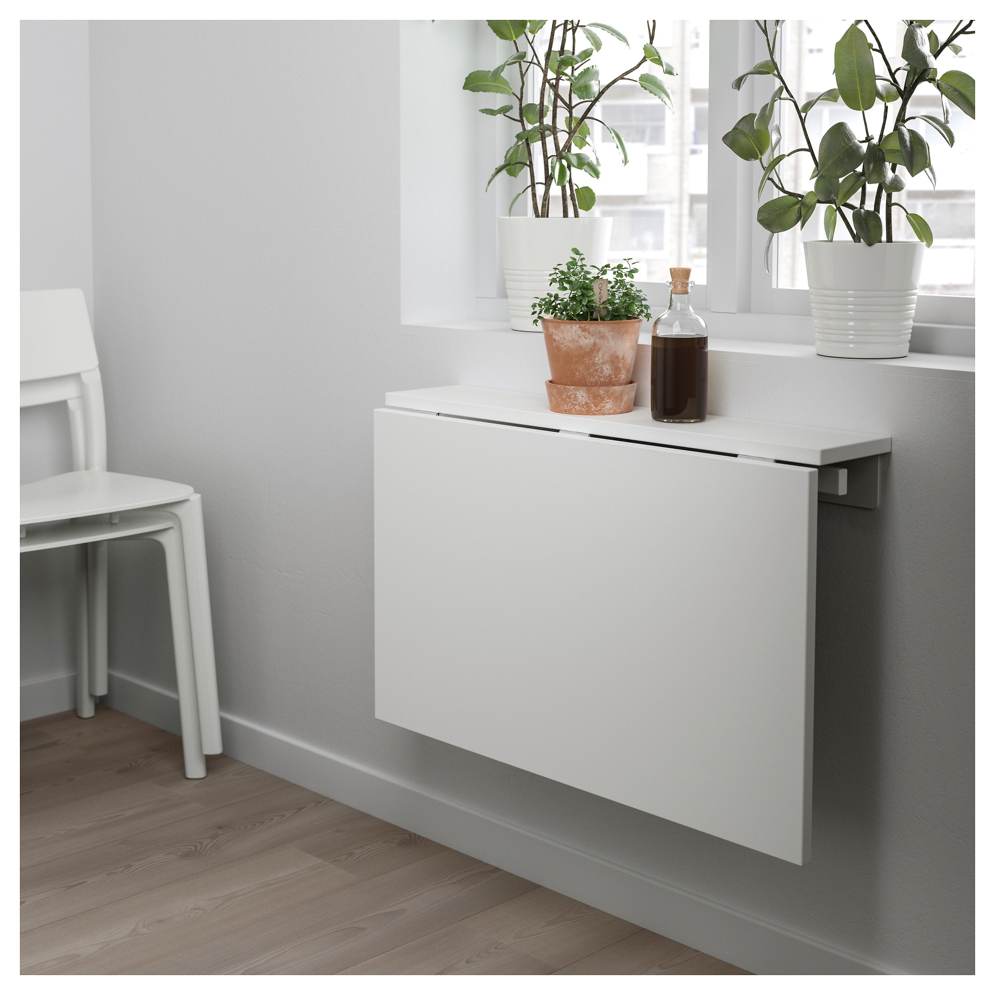 Mesa Abatible Zwdg norberg Mesa Abatible De Pared Blanco 74 X 60 Cm Ikea