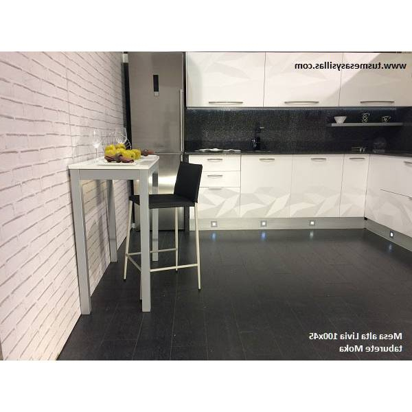 Mesa Alta De Cocina Fmdf Mesa Alta Y Estrecha De Cocina O Mostrador H90 Livia