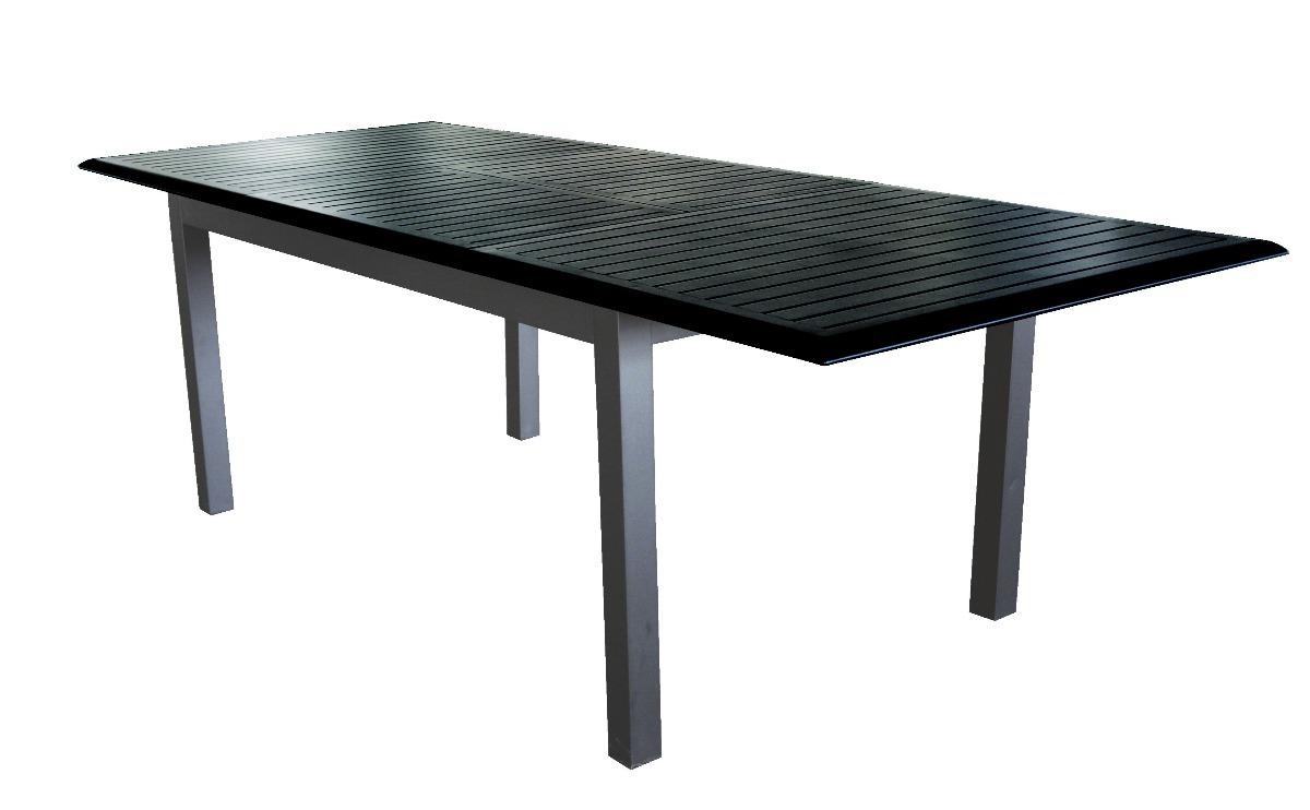 Mesa Aluminio 87dx Mesa De Exterior Boheme De Aluminio 152 X 90 X 75cm Negra 26 600