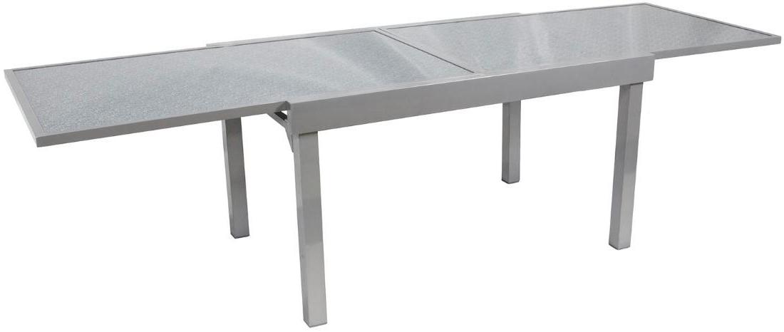 Mesa Aluminio Budm Mesa Rectangular Extensible Aluminio Color Gris Brillo Oferta Los