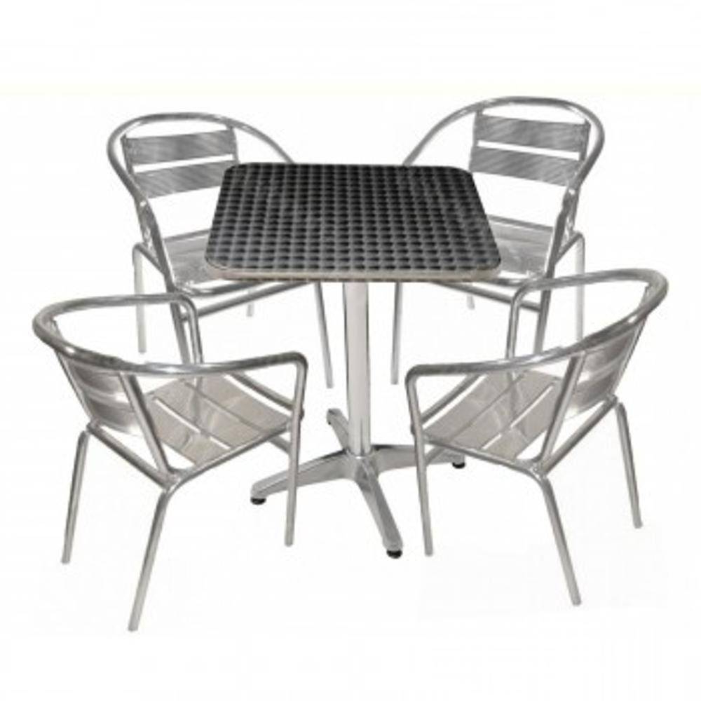 Mesa Aluminio E6d5 Mesa Aluminio Quadrada 60cm 4 Cadeiras Em Aluminio Nas Lojas