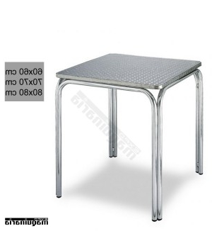 Mesa Aluminio O2d5 Mesa Aluminio Cuadrada Apilable 3r82 Para Hosteleria