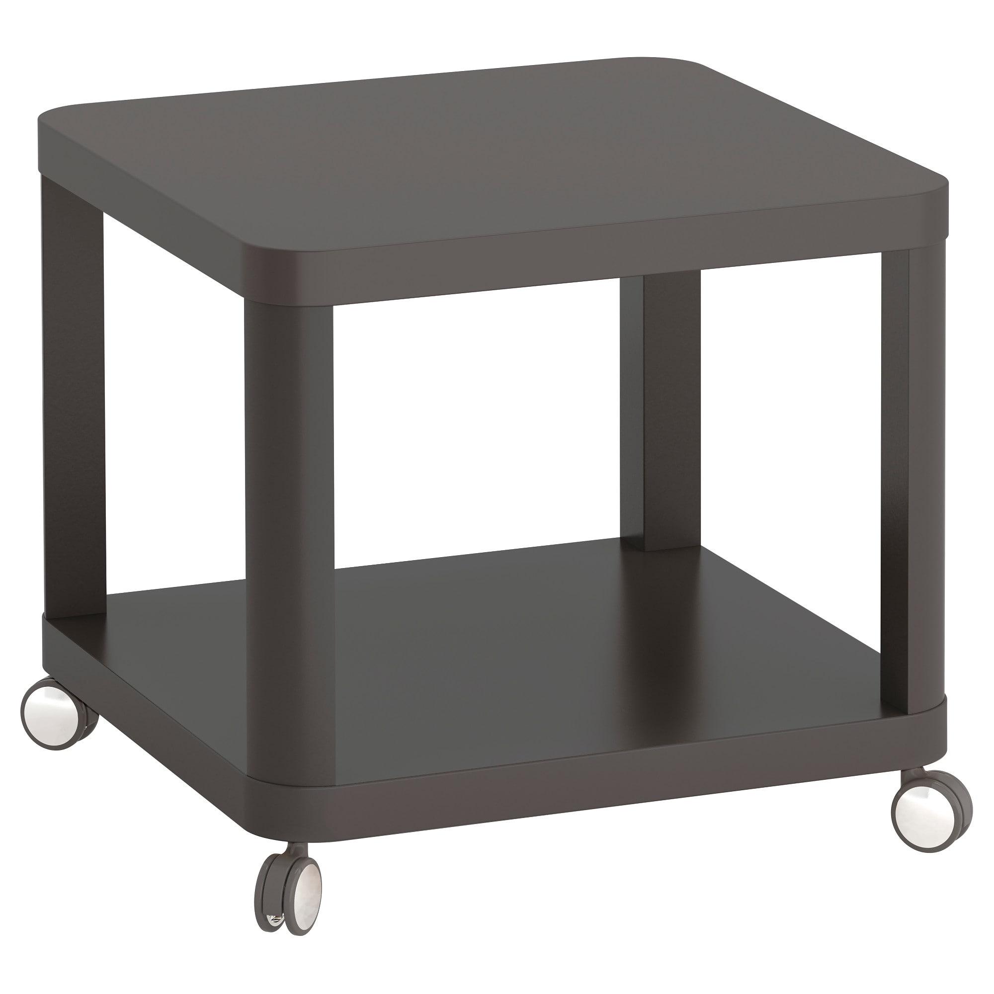 Mesa Auxiliar Con Ruedas Ipdd Tingby Mesa Auxiliar Con Ruedas Gris 50 X 50 Cm Ikea