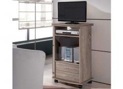Mesa Auxiliar Tv Ruedas Etdg Oferta Mueble Tv Granollers En Dos Colores
