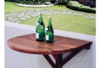 Mesa Balcon 4pde Madera De Teca Mesa Plegable Pared Edor Cocina Para Balcà N Ebay