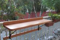 Mesa Balcon Ffdn Mesa Barra Plegable Rebatible Para Balcon Madera Y Hierro 3 600