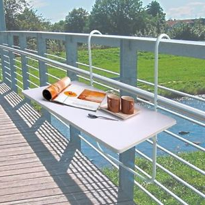 Mesa Balcon Plegable 3id6 Mesa Para Balcà N Plegable Terraza De Barandilla Repelente Al Agua Ebay