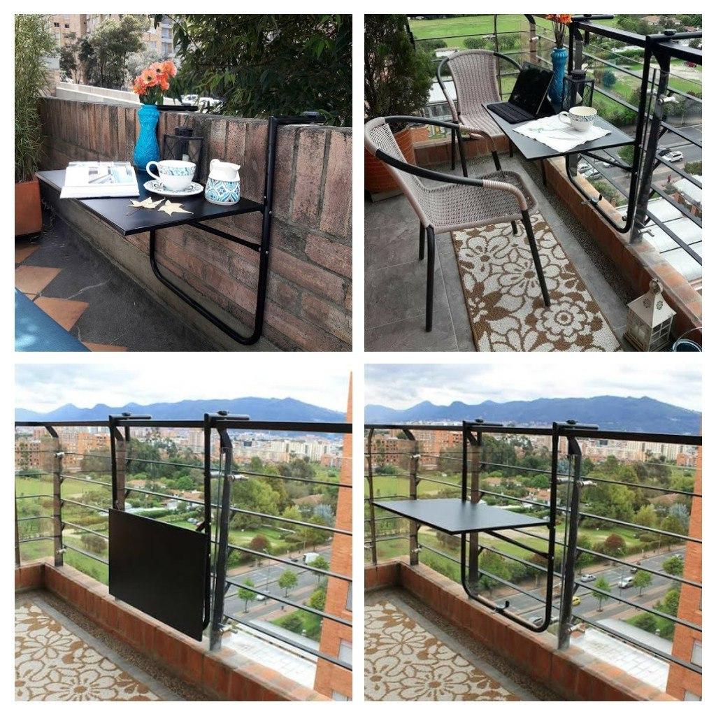 Mesa Balcon Plegable Drdp Mesa Plegable Para Balcà N Terrazas Intemperie Desmontable