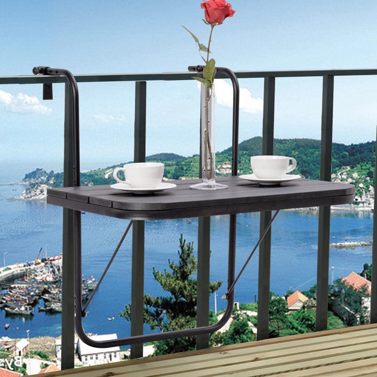 Mesa Balcon Plegable Tqd3 Ajustable Plegable Cubierta Mesa Patio Balcà N Que Sirve De