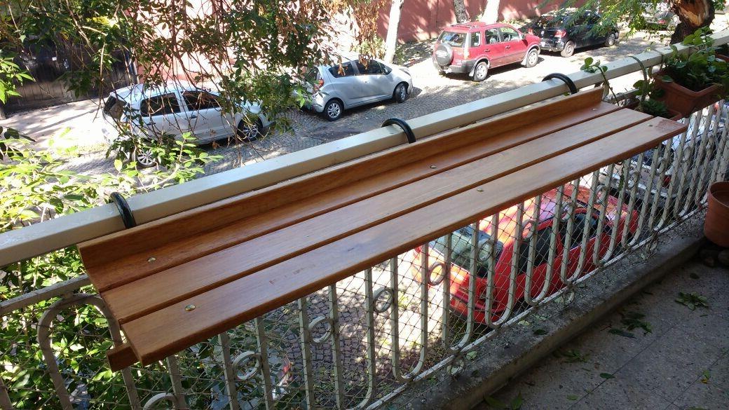 Mesa Balcon T8dj Mesa Bar Colgante P Balcon En Listones De Madera Y Hierro 3 300