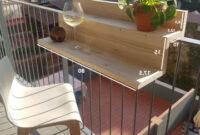 Mesa Balcon Y7du Mesas Y Sillas Para Balcon Mesa De Bar Plegable De Madera Y De Cao