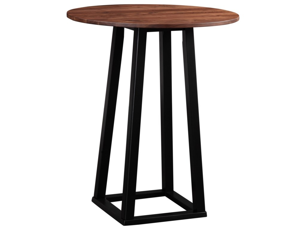 Mesa Bar S1du Tri Mesa Industrial Bar Table with solid Wood top by Moe S Home Collection at Sam Levitz Furniture