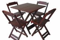 Mesa Bar Y7du Conjunto Mesa Bar 4 Cadeiras Em Madeira
