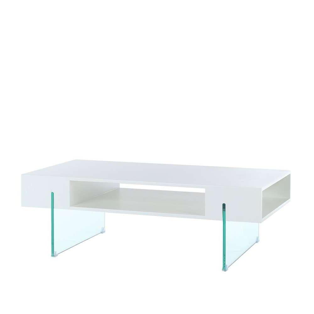 Mesa Centro Blanca Thdr Mesa Centro Moderna Blanca Cristal Te Imaginas